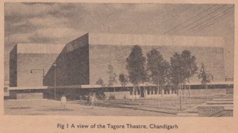Fig 1. A view of the Tagore Theatre, Chandigarh